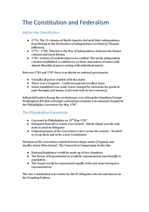 Preview of AQA GOV4A The Constitution & Federalism Revision Notes