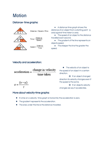 Preview of AQA (HIGHER) PHYSICS UNIT 2-Motion
