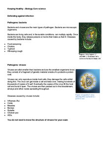 Preview of AQA Keeping Healthy (2) – Biology Core science