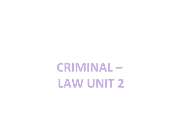 Preview of AQA, Law02 - Criminal and Tort Revision powerpoint