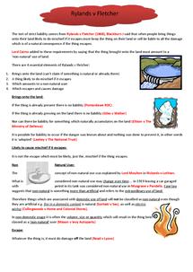 Preview of AQA LAW4 rylands v fletcher notes