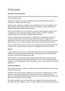 Preview of AQA Law a2 unit 3 criticisms