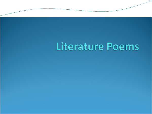 Preview of AQA Literature Poems - Full Notes