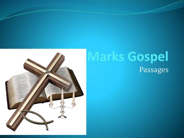 Preview of AQA Mark's Gospel Passages