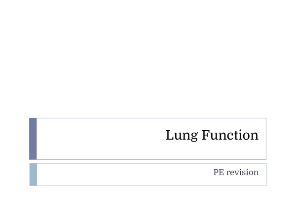 Preview of AQA PE AS Level Lung Function Revision Powerpoint