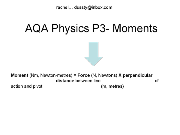 Preview of AQA Physics- Moments