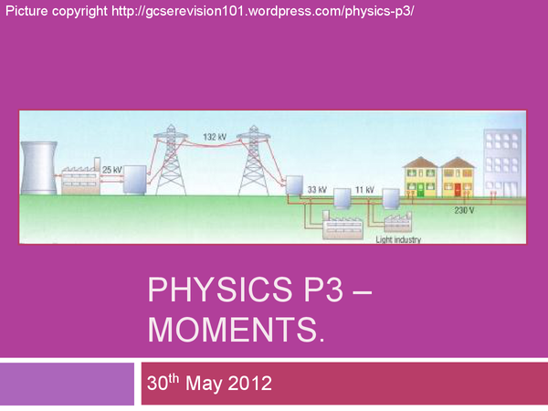 Preview of AQA Physics P3 - Moments and Circular Motion