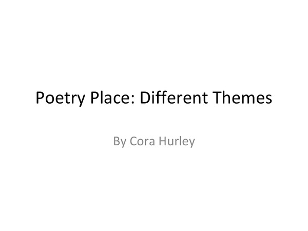 Preview of AQA Poetry Cluster: Place Themes for Poems