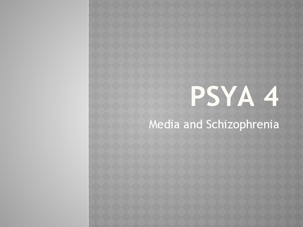 Preview of AQA PSYA4 Media Psychology & Schizophrenia