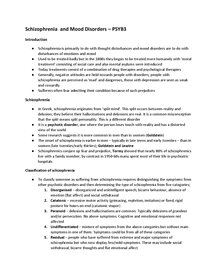 Preview of AQA PSYB3 Psychology - Schizophrenia explanation notes