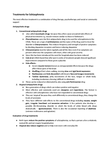 Preview of AQA PSYB3 Psychology - Schizophrenia treatment notes