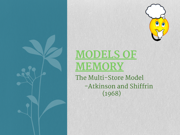 Preview of AQA Psychology Models of Memory Topic