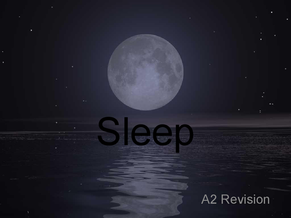Preview of AQA Psychology Revision- Sleep
