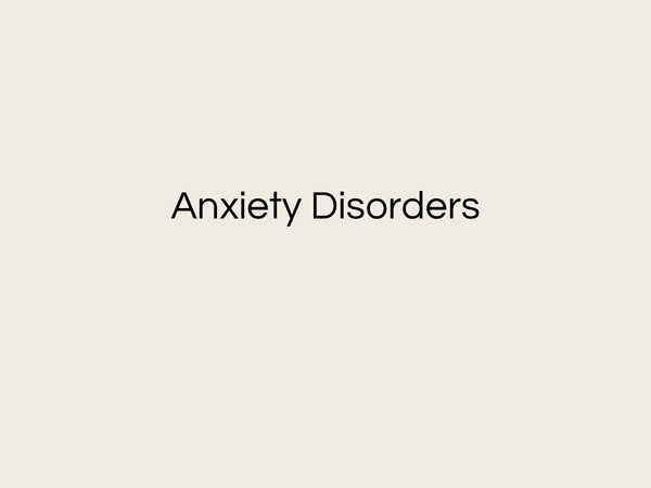 Preview of AQA Pyschology AS Anxiety Disorders