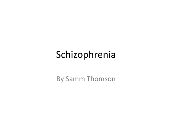 Preview of AQA - Schizophrenia