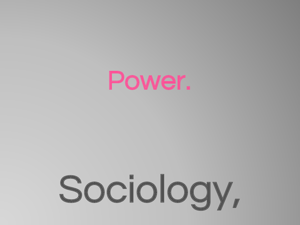 power in sociology essays