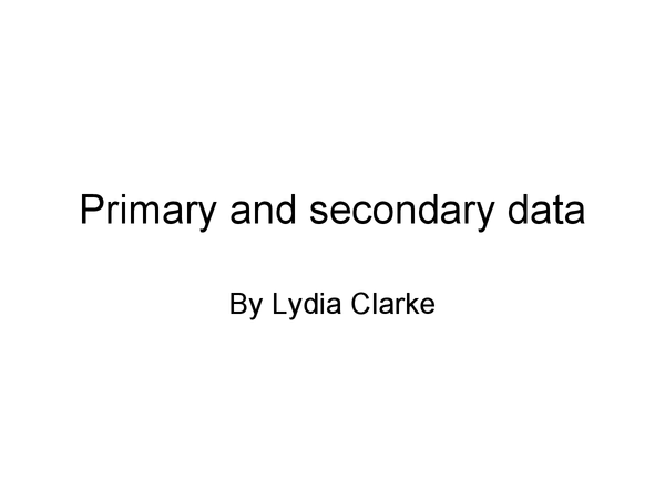Preview of AQA Sociology- Primary and secondary data