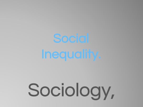 Preview of AQA Sociology Social Inequality