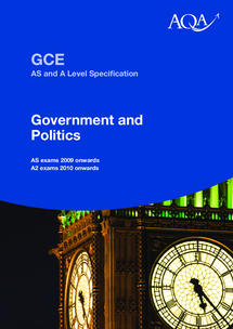 Preview of AQA Specification for A-level Government and Politics
