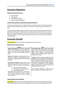 Preview of GCSE Economics - Managing the Economy