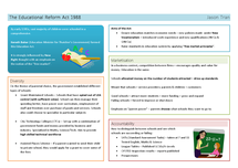 Preview of [AQA] Unit 2 Sociology - Education: The Reform Act 1988
