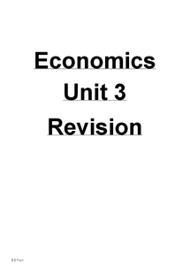 Preview of AQA Unit 3 Economics: Business Economics and the Distribution of Income