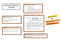 Preview of AQA Unit 4 Economics - Absolute and Comparative Advantage