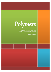 Preview of AQA unit 4 polymers