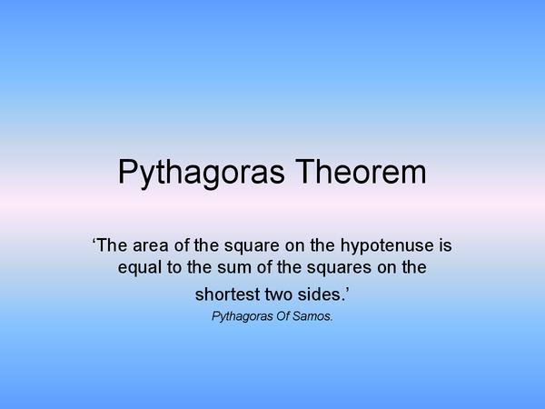 Preview of AQA/Edexcel GCSE Pythagoras Theorem