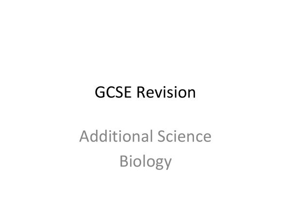 Preview of AQQ Unit 2 biolgy revision topics