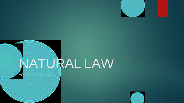 Preview of AQUINAS' NATURAL LAW REVISION GUIDE AS ETHICS (POWERPOINT SLIDESHOW)