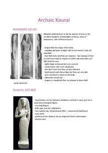 Preview of Archaic Kourai notes
