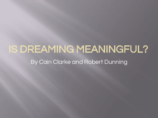 Preview of Are dreams meaningful