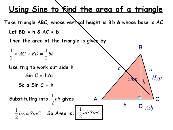 Preview of Area of triangles