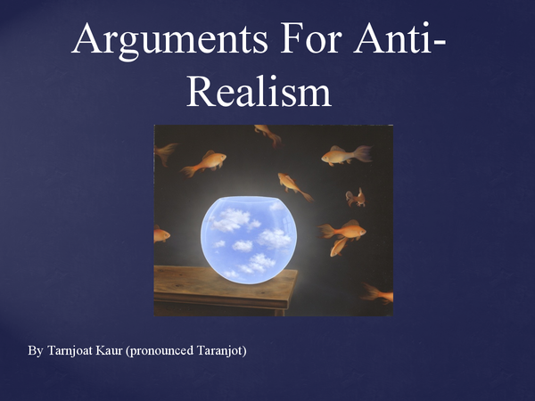 Preview of Arguments for anti-realism