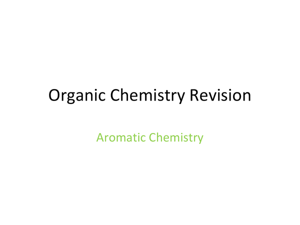 Preview of Aromatic Chemistry
