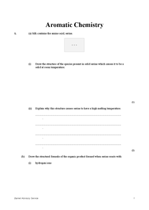 Preview of Aromatic chemistry practice questions