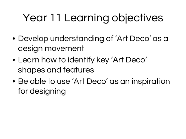 Preview of Art deco images to help for exam