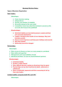Preview of AS Accounting Unit 2 Revision Notes