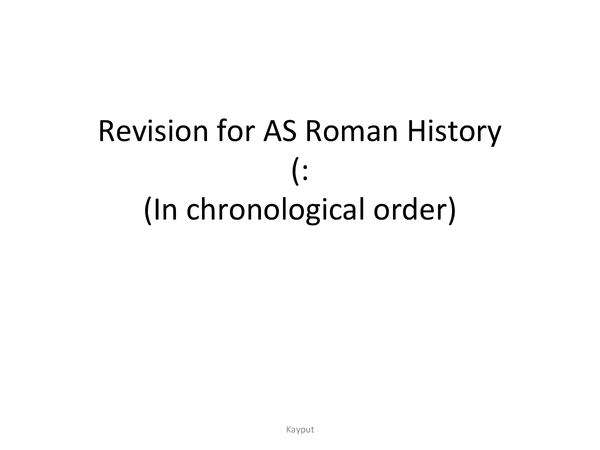 Preview of AS Ancient Rome Notes- Caesar's First and Second Invasion