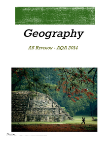 Preview of As AQA Physical Geography revision booklet