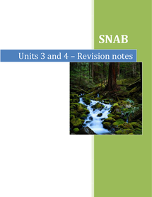 Preview of AS Biology SNAB unit 2 revision