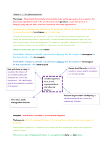 Preview of AS Biology Chapter 2.2 The basics of genetics