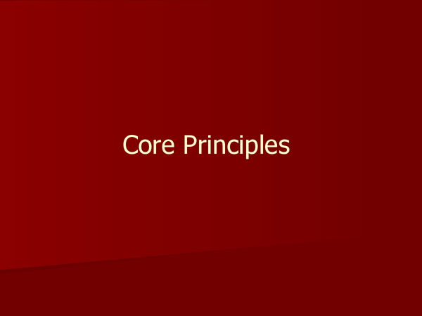 Preview of AS Biology Core principles
