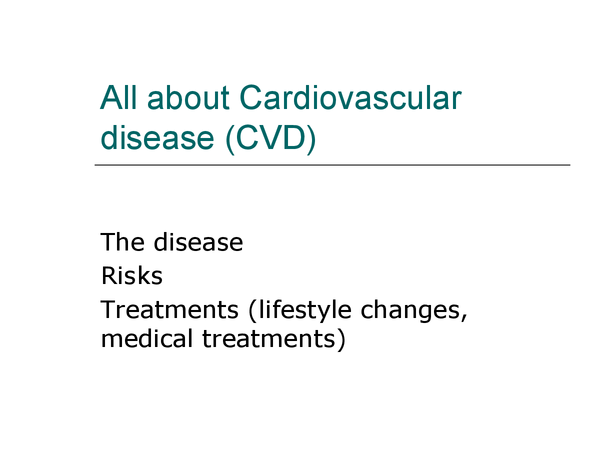 Preview of AS Biology Edexcel Topic 1 - Cardiovascular disease (CVD)