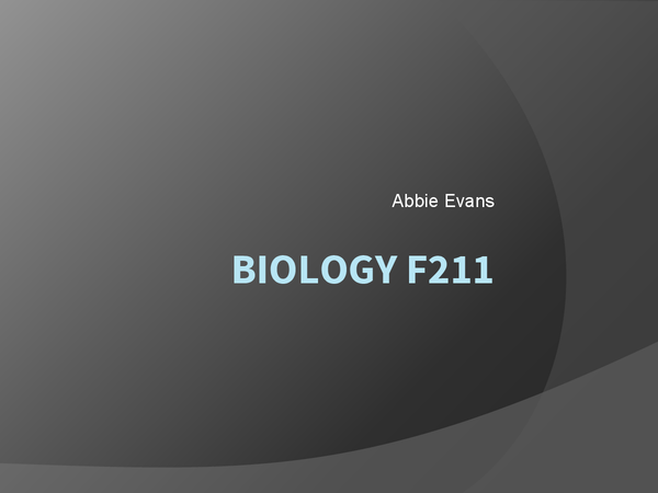 Preview of AS Biology f211 full notes OCR