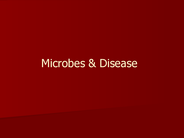 Preview of AS Biology Microbes and Diseases