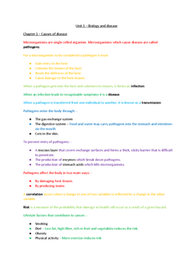 Preview of AS Biology - Unit 1 (AQA)