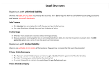 Preview of AS Business:  Legal structures