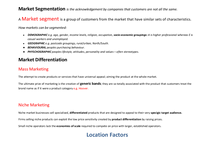 Preview of AS Business:  Segmentation & Differentiation
